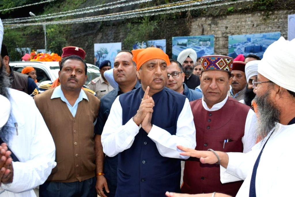 Himachal Pradesh Chief Minister Jai Ram Thakur during his visit to the Baru Sahib Gurudwara in Sirmour district, on Oct 16, 2019. - Jai Ram Thakur