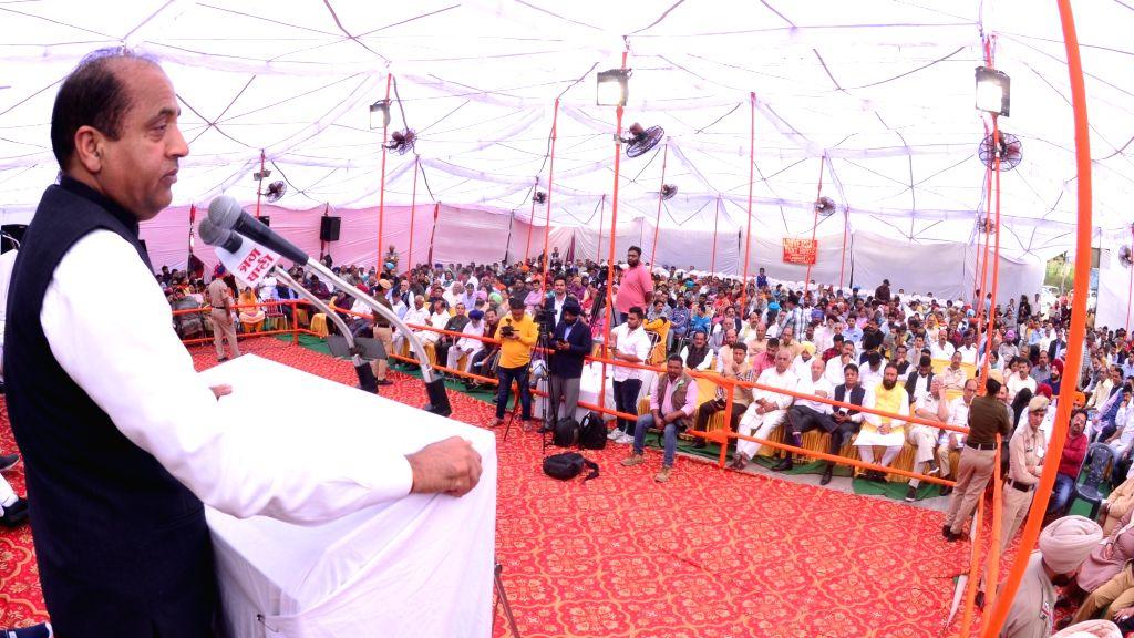 Himachal Pradesh Chief Minister Jai Ram Thakur addresses during the 116th function of Shaheed Parivar Fund in Jalandhar on Nov 10, 2019. - Jai Ram Thakur