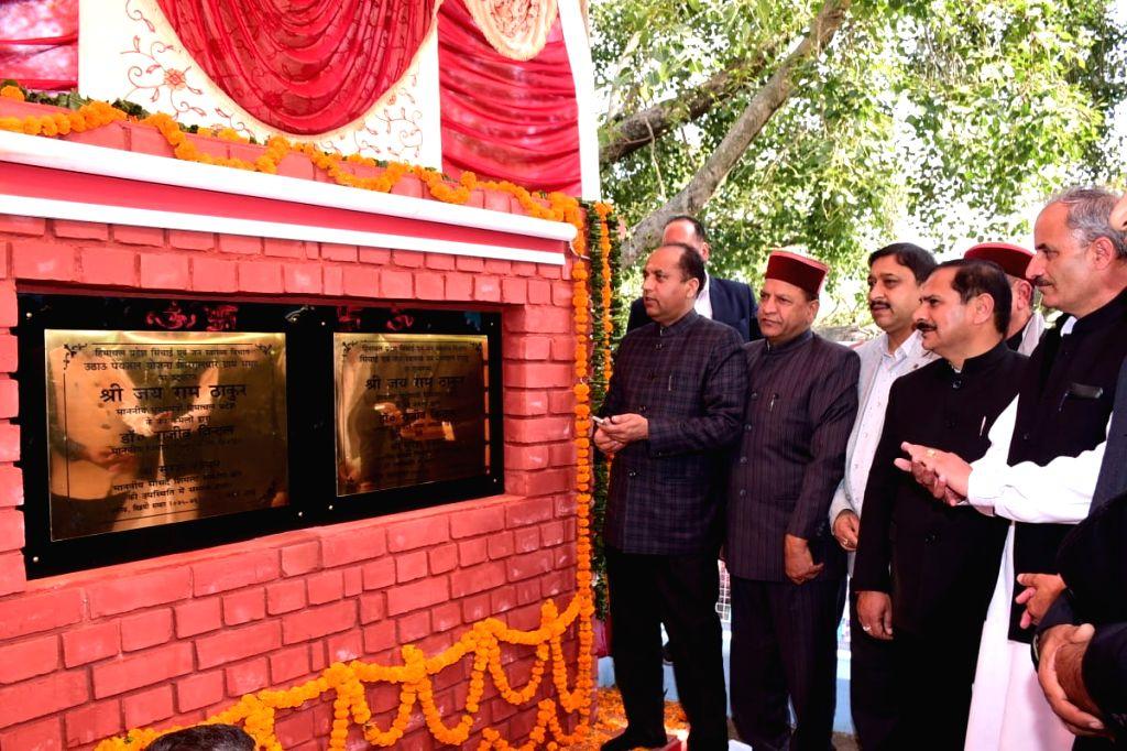 Himachal Pradesh Chief Minister Jai Ram Thakur inaugurates water supply scheme to Sirguldhar and some villages of Nahan tehsil in Sirmour district on Nov 12, 2019. - Jai Ram Thakur