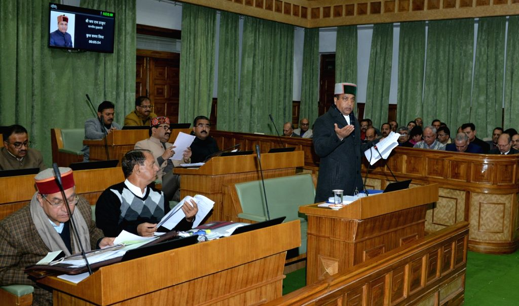 Himachal Pradesh Chief Minister Jai Ram Thakur addresses during the Winter Session of the state assembly, in Dharamsala on Dec 12, 2019. - Jai Ram Thakur