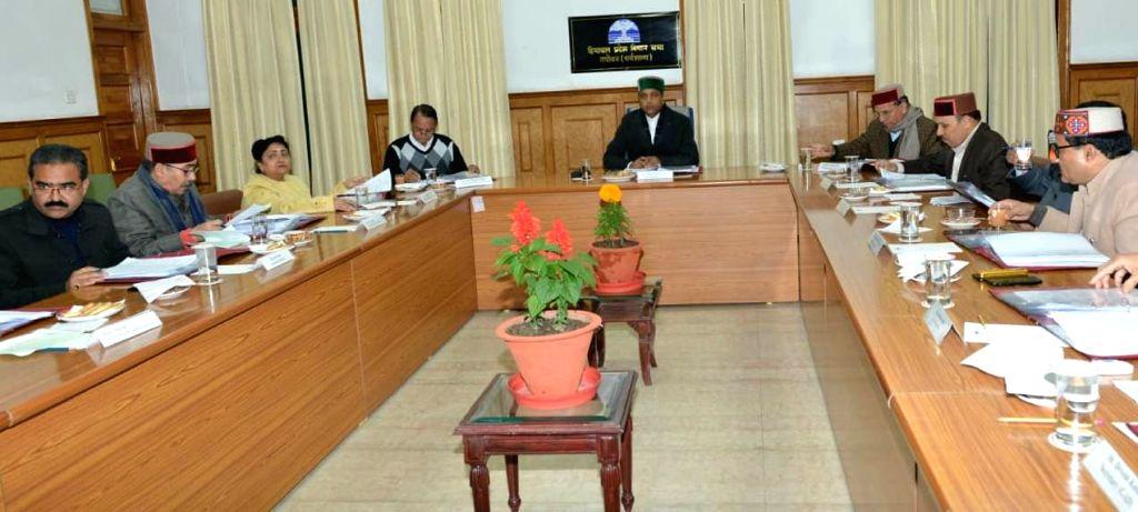 Himachal Pradesh Chief Minister Jai Ram Thakur presides over a Cabinet meeting, in Dharamsala on Dec 12, 2019. - Jai Ram Thakur