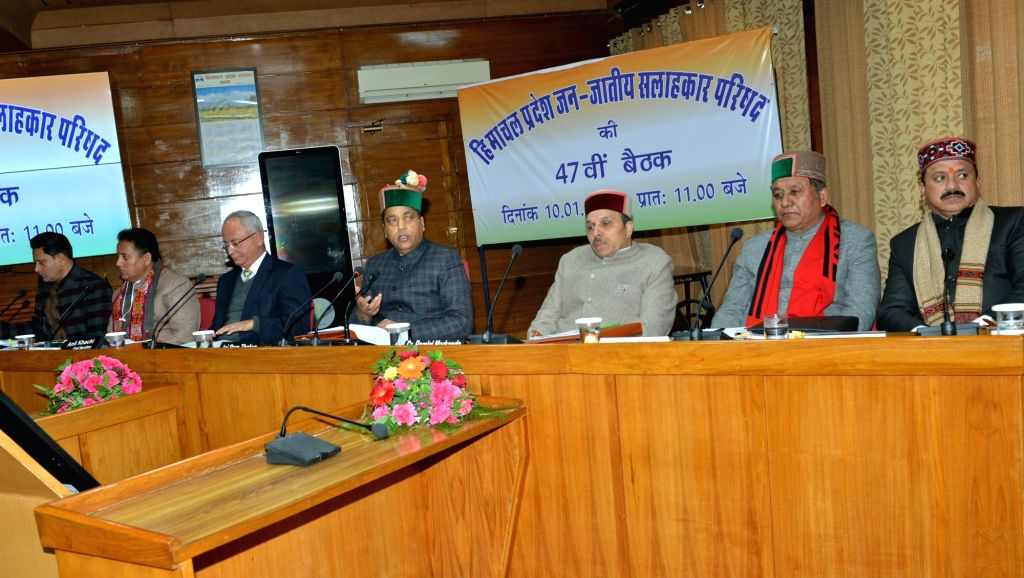 Himachal Pradesh Chief Minister Jai Ram Thakur presides over the 47th meeting of Tribal Advisory Council (TAC) in Shimla on Jan 10, 2020. - Jai Ram Thakur