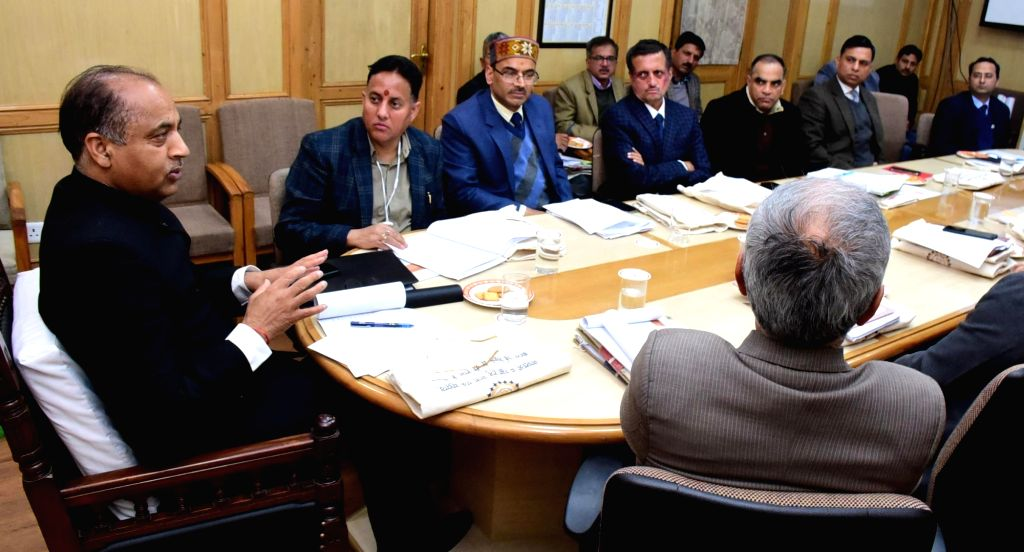 Himachal Pradesh Chief Minister Jai Ram Thakur presides over the 6th meeting of HP State Disaster Management Authority, in Shimla on March 18, 2020. - Jai Ram Thakur
