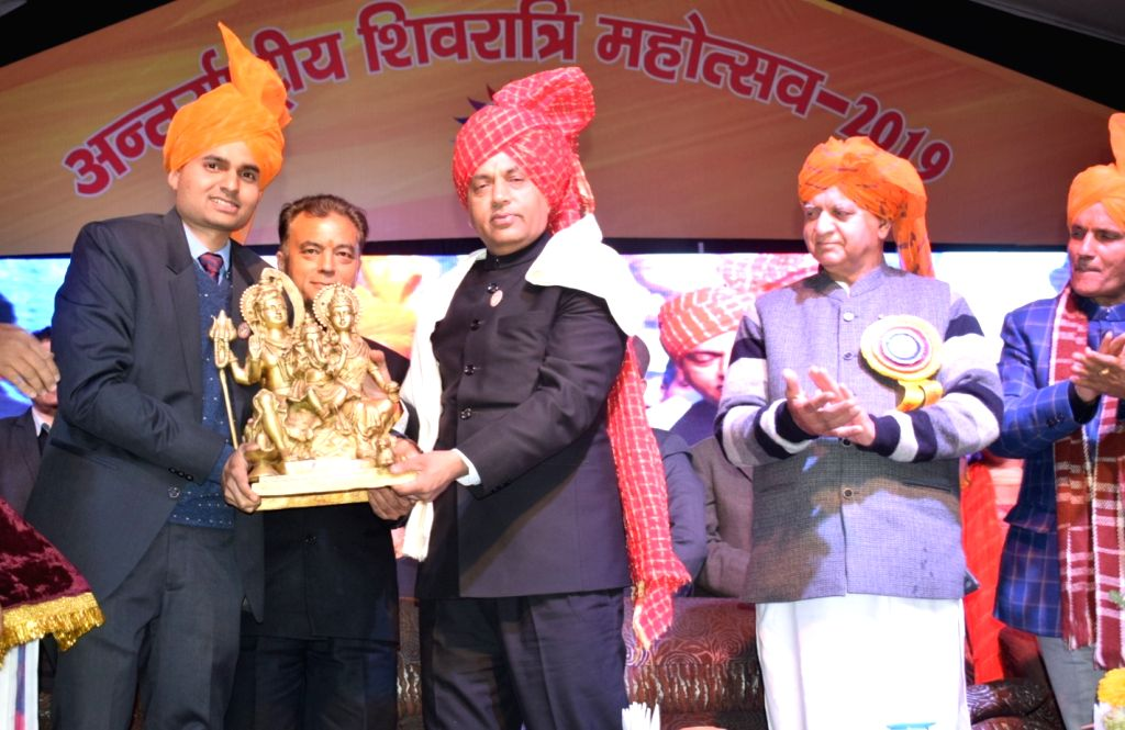 Himachal Pradesh Chief Minister Jai Ram Thakur at the inauguration of a week-long Mahashivratri fair in Mandi, Himachal Pradesh, on March 5, 2019. The celebrations date back to 1526 when Mandi ... - Jai Ram Thakur