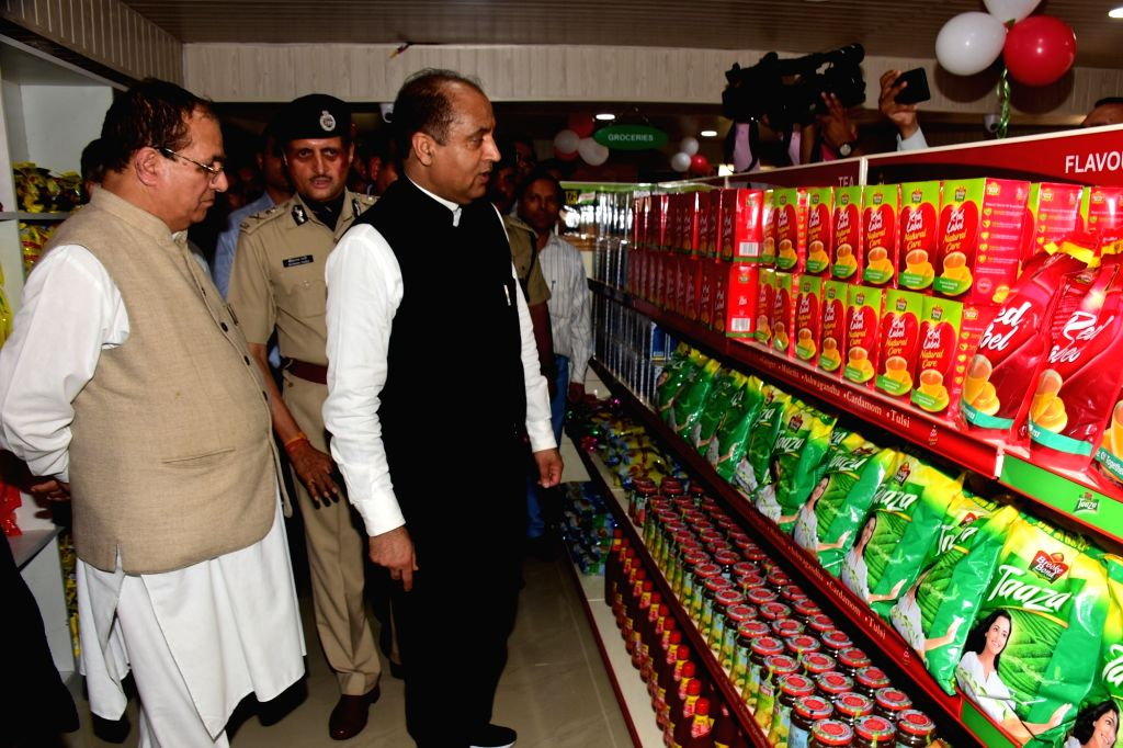 Himachal Pradesh Chief Minister Jai Ram Thakur at the inauguration of Central Police Canteen at Police Headquarters to facilitate the police personnel and retired employees of the Police ... - Jai Ram Thakur