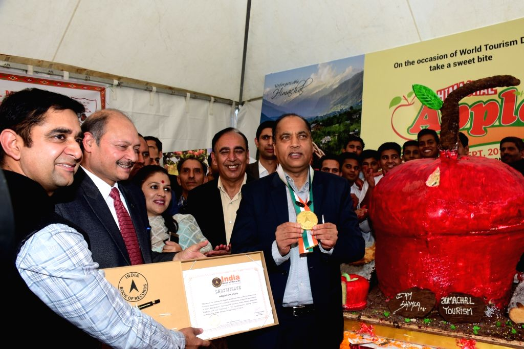 Himachal Pradesh Chief Minister Jai Ram Thakur at the inauguration of Himachal Apple Festival in Shimla on Sep 27, 2019. - Jai Ram Thakur