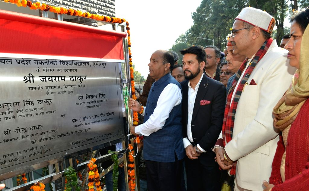 Himachal Pradesh Chief Minister Jai Ram Thakur at the inauguration of various development projects at HP technical University Hamirpur, on Dec 6, 2019. - Jai Ram Thakur
