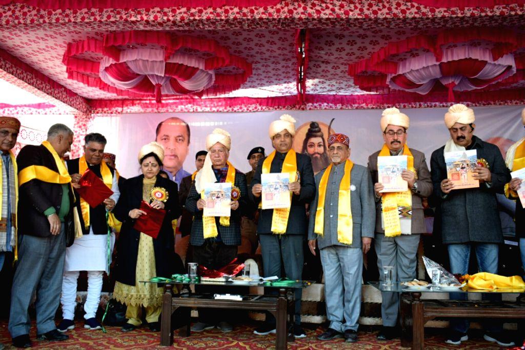 Himachal Pradesh Chief Minister Jai Ram Thakur at the Silver Jubilee programme of Brahmin Kalyan Parishad in Kangra on Jan 9, 2020. - Jai Ram Thakur