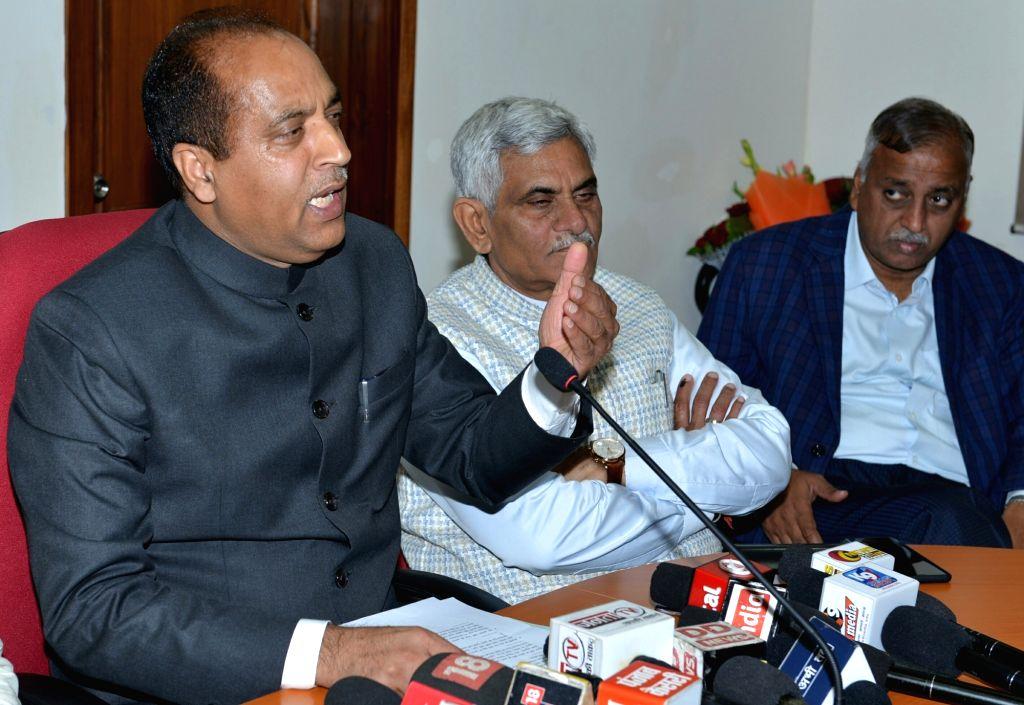 Himachal Pradesh Chief Minister Jai Ram Thakur. (Photo: IANS) - Jai Ram Thakur