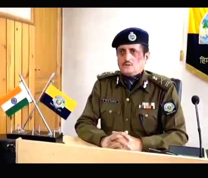 Himachal Pradesh Director General Of Police SR Mardi. (Photo: Sanjeev Kumar Singh Chauhan)