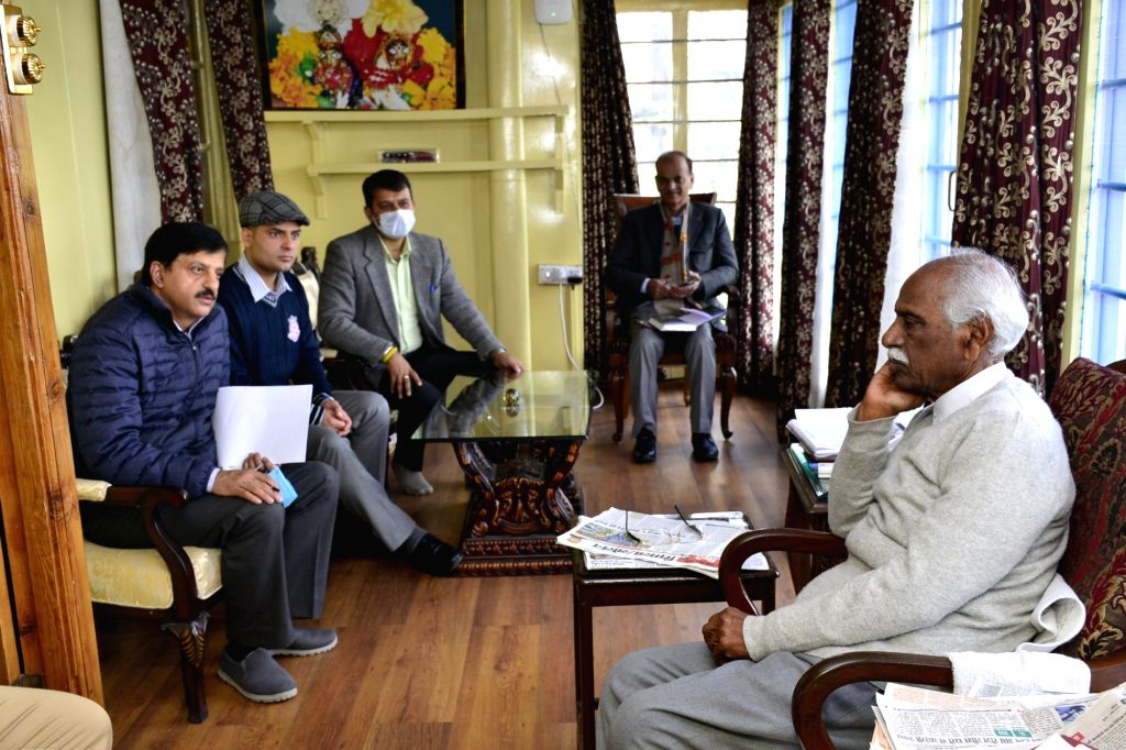 Himachal Pradesh Governor Bandaru Dattatraya meets Deputy Commissioners and directs them to register and issue identity cards to all unregistered migrant labourers in their respective ...