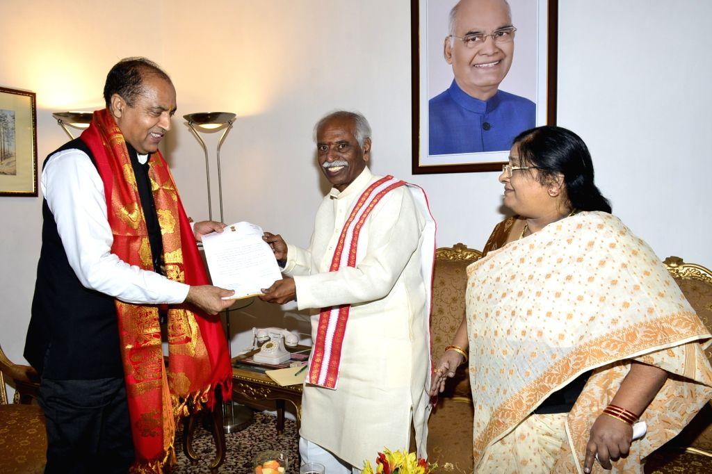 Himachal Pradesh Governor Bandaru Dattatraya invites Chief Minister Jai Ram Thakur to attend the Alai-Balai Festival to be celebrated on 10th October 2019 in Hyderabad; at Raj Bhawan in ... - Jai Ram Thakur