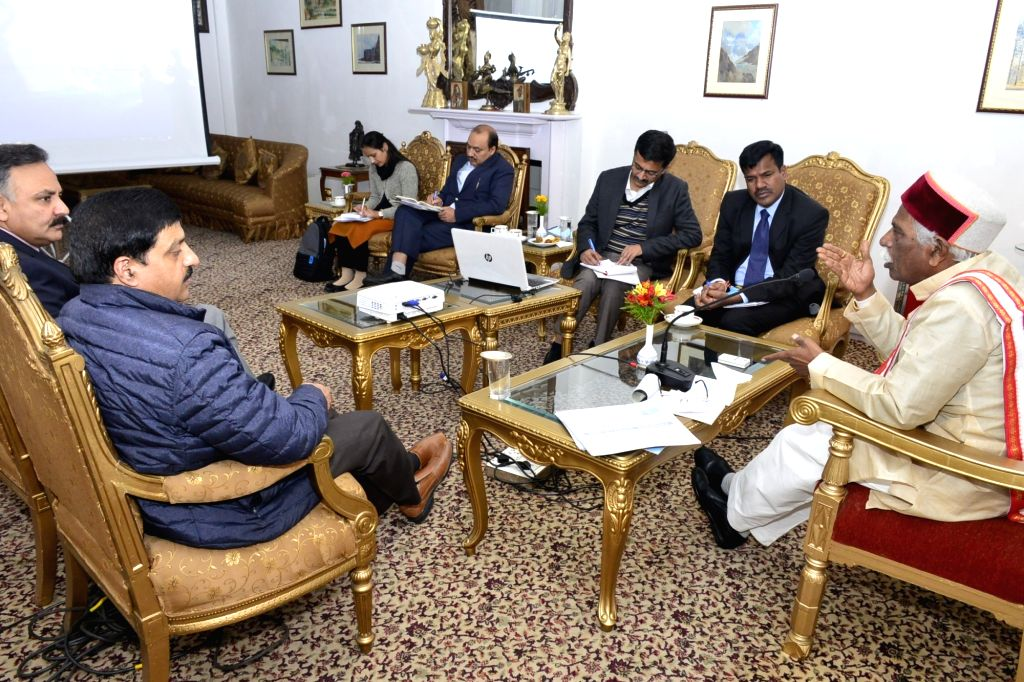 Himachal Pradesh Governor Bandaru Dattatraya presides over a meeting with the officials of Smart City to know about the ongoing development works in Shimla and Dharamsala and various other ...