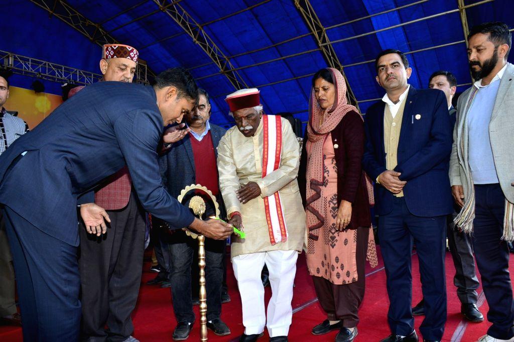 Himachal Pradesh Governor Bandaru Dattatraya presides over the closing ceremony of State Level Hamir Utsav at Hamirpur on Dec 7, 2019.