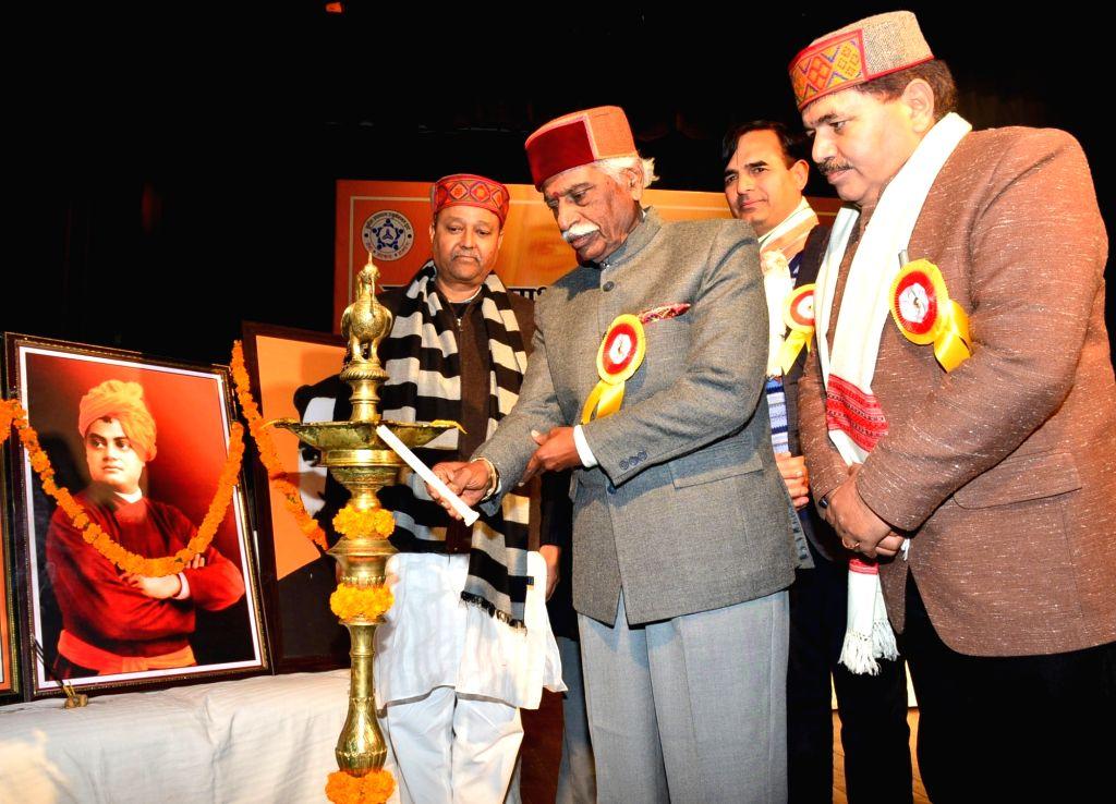 Himachal Pradesh Governor Bandaru Dattatraya during a conference on 'Bharat Ki Parikalpana: Nashamukt Sanskaryukth Yuva', in Shimla on Dec 12, 2019.