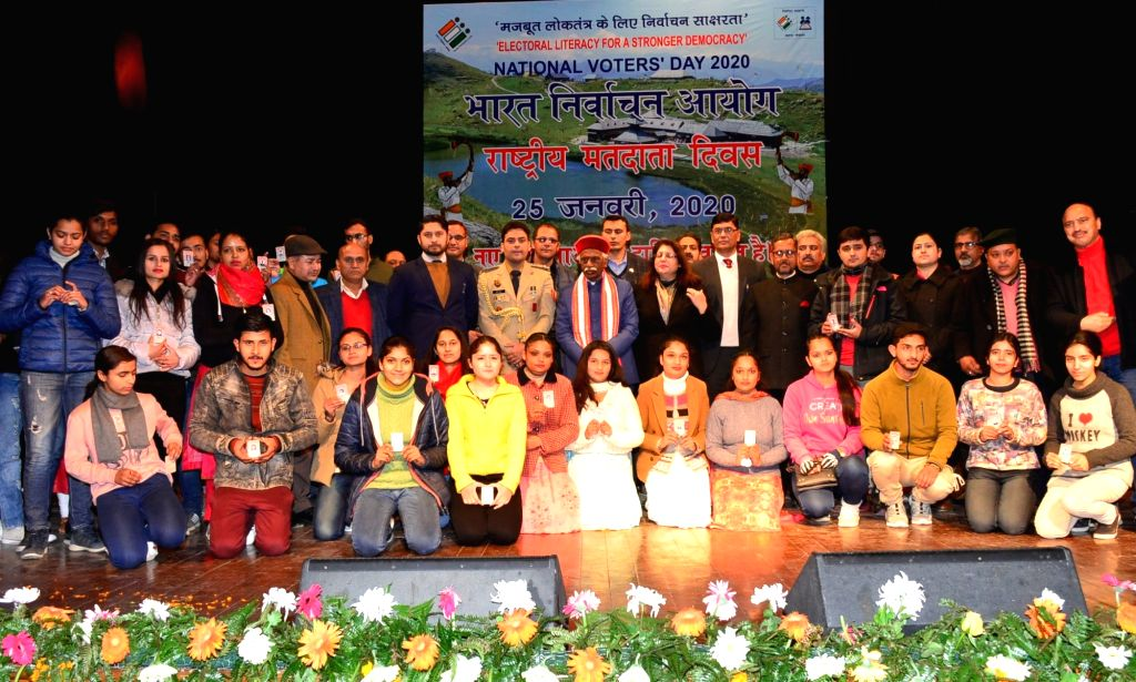 Himachal Pradesh Governor Bandaru Dattatraya during the 10th National Voters' Day celebrations at Gaiety Theatre in Shimla on Jan 25, 2020.