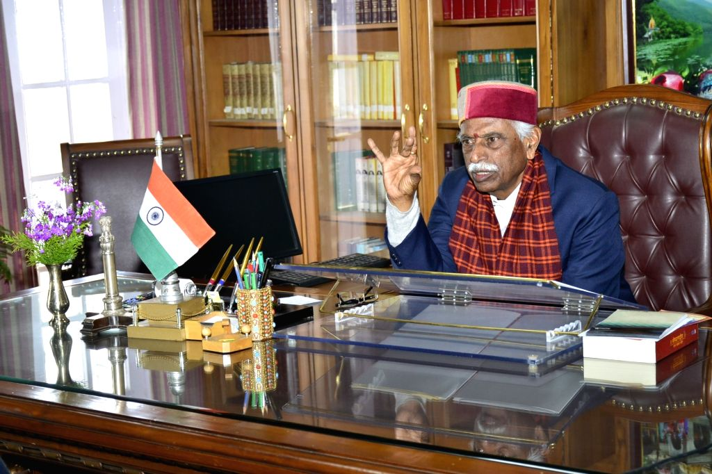 Himachal Pradesh Governor Bandaru Dattatraya presides over a meeting where he gave directions to the Vice-Chancellors of the Universities regarding coronavirus and took a report of caution ...