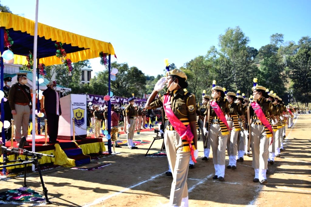 Himachal Pradesh Governor Bandaru Dattatreya participated as Chief Guest in the Passing out Parade of 21st batch of recruit constables at Himachal Pradesh Police Training College, Daroh in ...