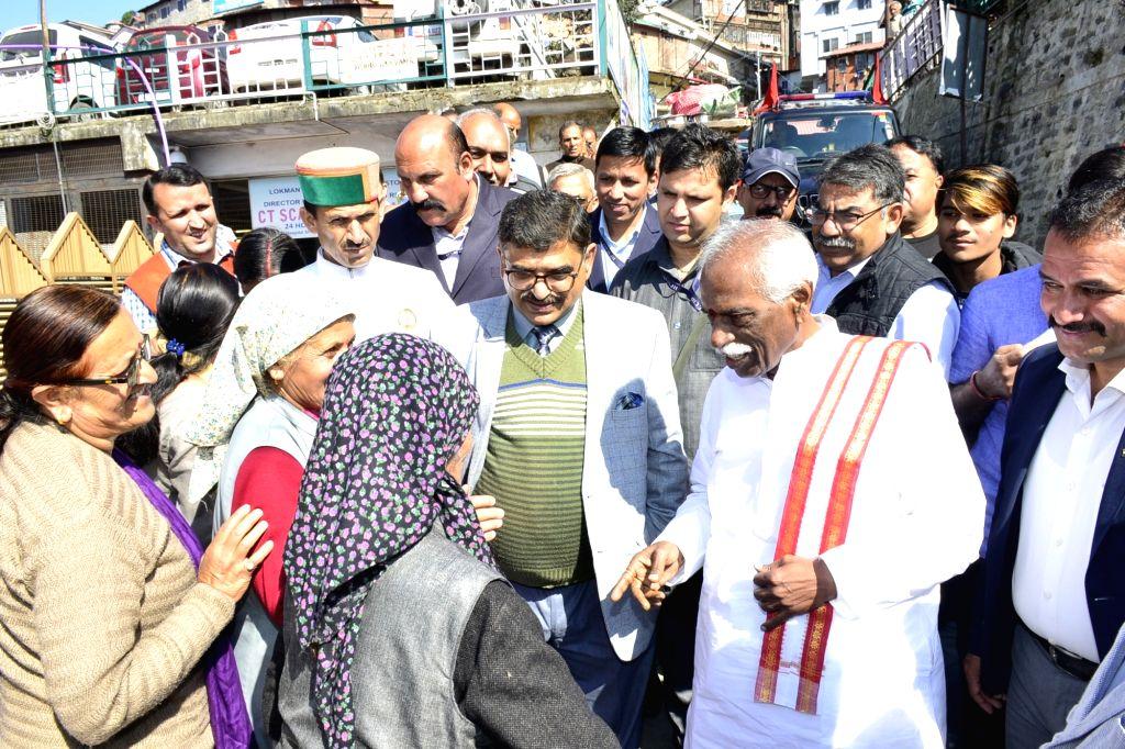 Himachal Pradesh Governor Bandaru Dattatreya during a surprise inspection at Deen Dayal Upadhyay Regional Hospital in Shimla, on Oct 16, 2019.
