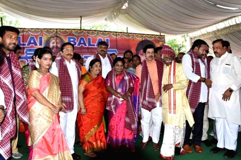 Himachal Pradesh Governor Bandaru Dattatreya with Telangana Governor Tamilisai Soundararajan and Former Maharashtra Governor C. Vidyasagar Rao during  'Alai Balai' programme hosted by him ... - C. Vidyasagar Rao