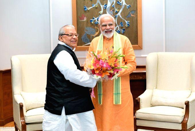 Himachal Pradesh's new Governor Kalraj Mishra meets Prime Minister Narendra Modi in New Delhi, on July 27, 2019. - Narendra Modi and Kalraj Mishra