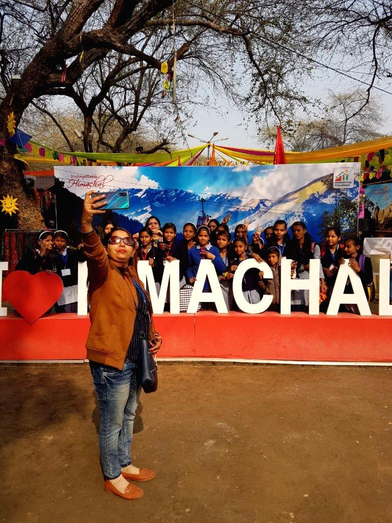 Himachal Showcasing tourism Potential at the 34th International Surajkund Crafts Mela in Faridabad, Haryana on Feb 7, 2020.