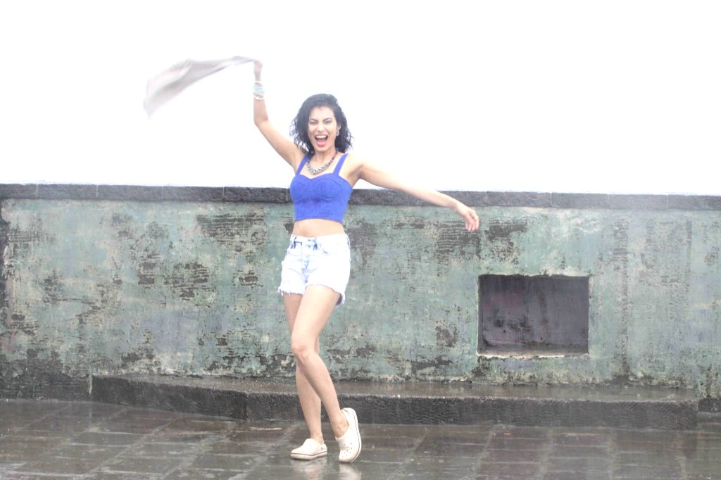 Hindi and Marathi film actress Manisha Kelkar during the glamorous rain photo shoot in Mumbai  on June 29, 2016. - Manisha Kelkar