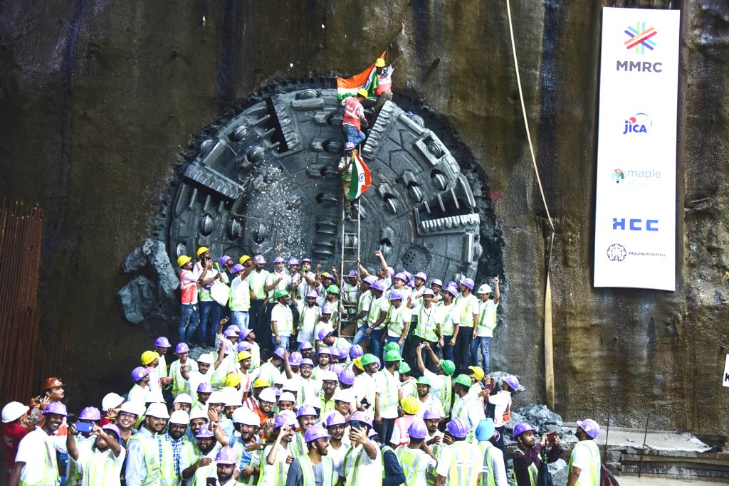 Hindustan Construction Co. Ltd (HCC) completed the 3.82 km long tunnel passing through most thickly populated areas of South Mumbai between CST and Mumbai Central stations as part of the ...