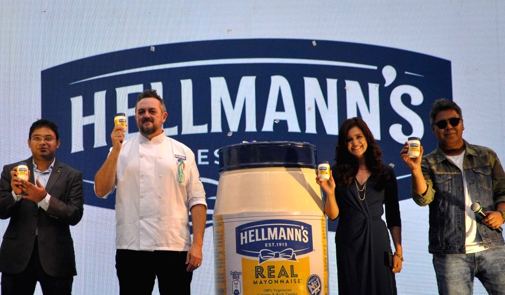 Hindustan Unilever Ltd Director Krishnendu Dasgupta, Chef Shaun Kenworthy, actress Priyanka Sarkar and radio jockey Mir Afsar Ali at a product launch programme in Kolkata on Dec 12, 2019. - Priyanka Sarkar