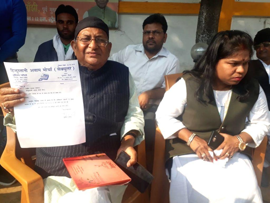 Hindustani Awam Morcha's (HAM) Bihar chief Birshen Patel, who quit the party following differences with party President Jitan Ram Manjhi in Patna on Feb 6, 2019. - Birshen Patel