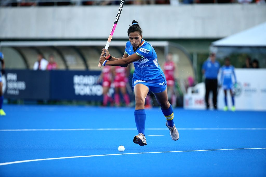 Hiroshima: India's Women Hockey Captain Rani Rampal in action during the Final of the FIH Women's Series Finals between India and Japan, in Hiroshima on June 23, 2019. (Photo: IANS) - Rani Rampal
