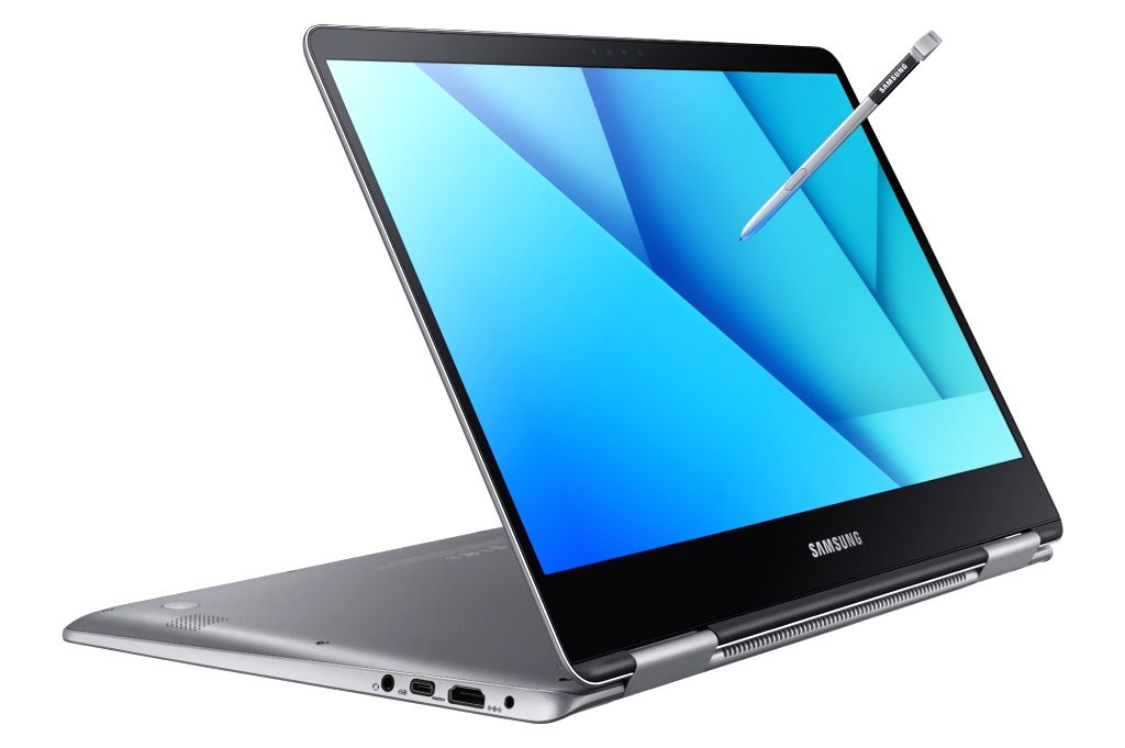 his photo released by Samsung Electronics Co. on July 5, 2017, shows its latest laptop computer equipped with an S Pen stylus, Samsung Notebook 9 Pen, which the company rolled out the same day.