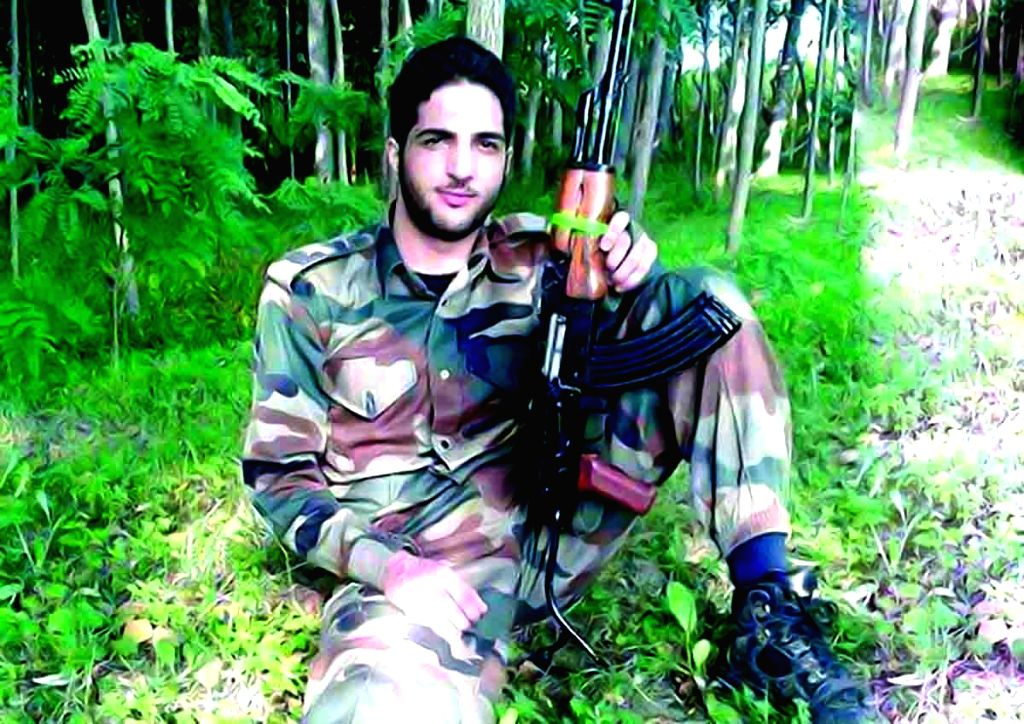 Hizbul Mujahideen commander Burhan Wani.