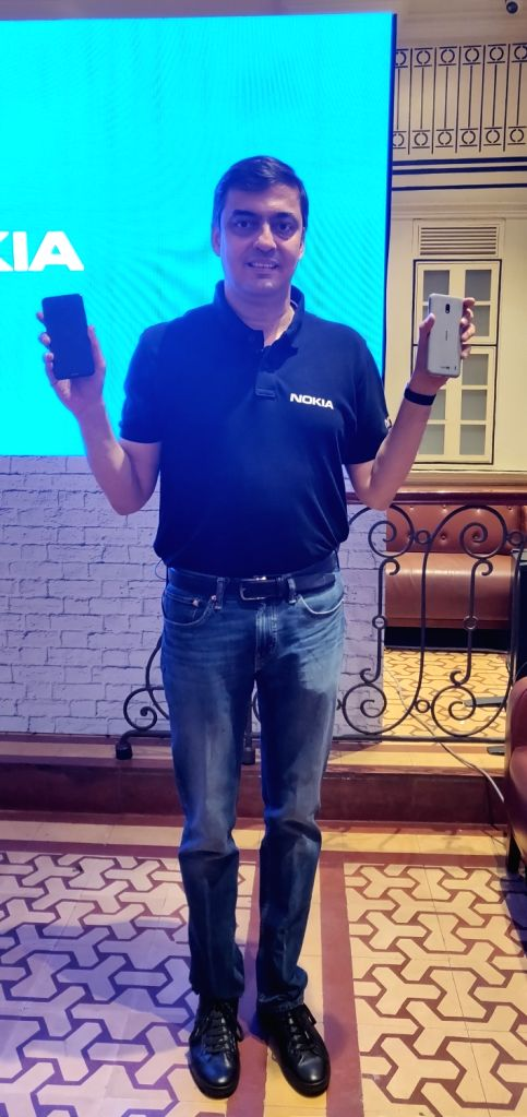 HMD Global Vice President and Country Head Ajay Mehta at the launch of Nokia 2.2 smartphone, in New Delhi on June 6, 2019. - Head Ajay Mehta