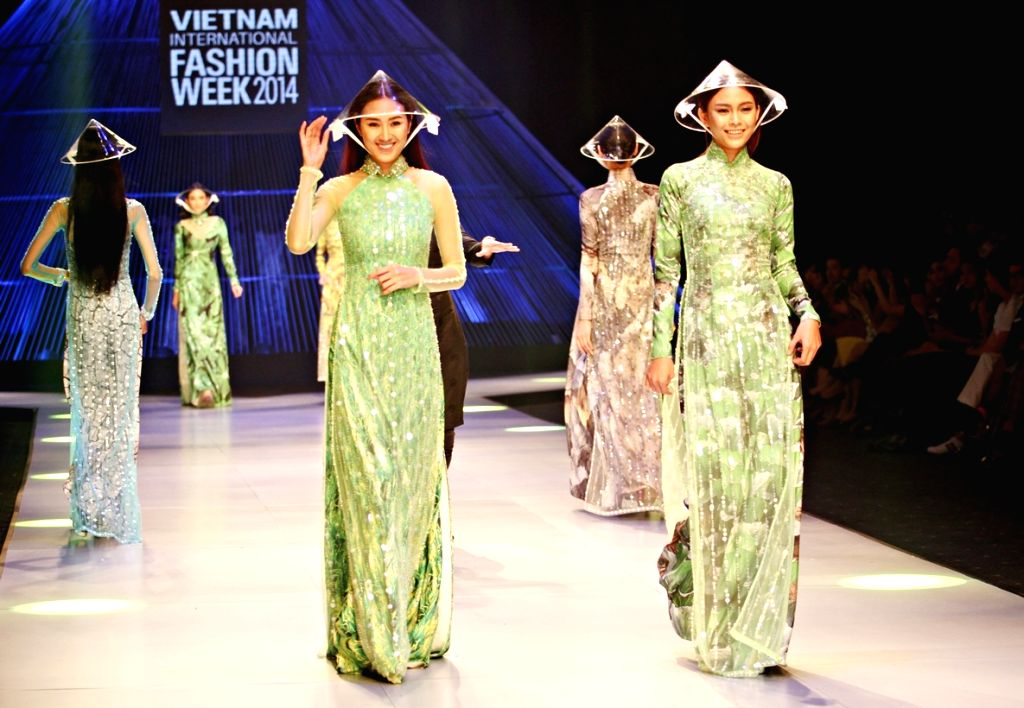 Ho Chi Minh city (Vietnam): Models present creations of Vietnamese designer Nguyen Cong Tri during the Closing Ceremony of the Vietnam International Fashion Week 2014 in Ho Chi Minh city, Vietnam, ...