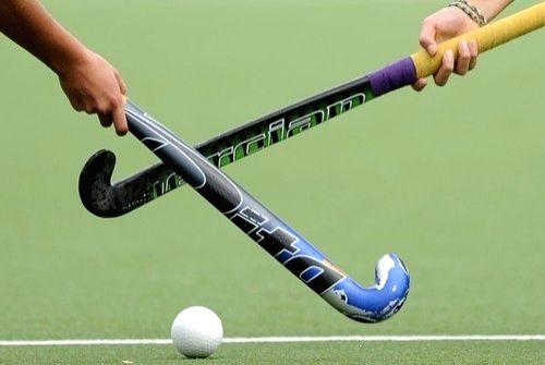 hockey stick and ball.