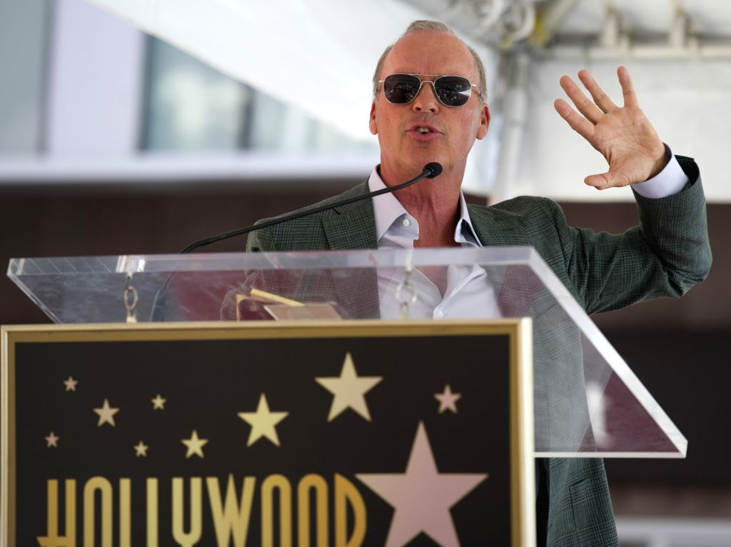 HOLLYWOOD, July 29, 2016 - US actor Michael Keaton speaks during a ceremony as he receives a star on the Hollywood Walk of Fame in Los Angeles, the United States, on July 28, 2016. - Michael Keaton
