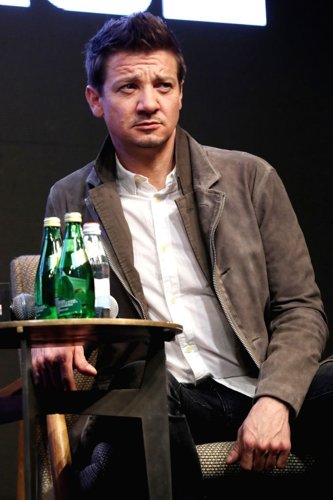 """Hollywood star Jeremy Renner attends a press conference in Seoul on April 15, 2019, to promote the new movie """"Avengers: Endgame."""" The movie will be released in South Korea on April ..."""