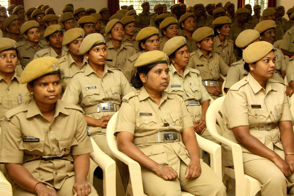 Home Guards during a programme organised on Home Guards day in Bangalore on Jan.3, 2014. (Photo: IANS)