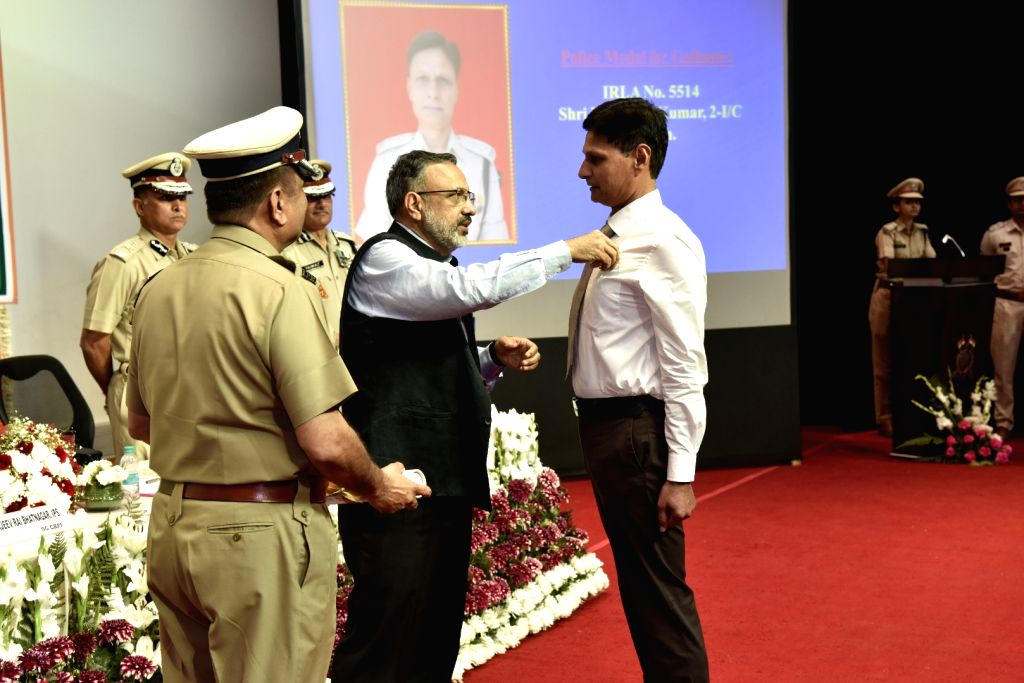 Home Secretary Rajiv Gauba during a programme organised on the annual 'Valour Day' of the CRPF, in New Delhi on April 9, 2019.