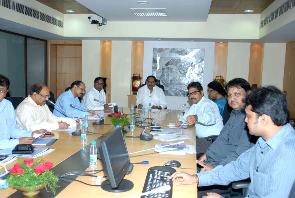 Hon`ble Chief Minister Sri N.Kiran Kumar Reddy is seen holding a Meeting on IT&C with concerned Minister & Higher Officials at Secretariat in Hyderabad on Friday, February 1st, evening.
