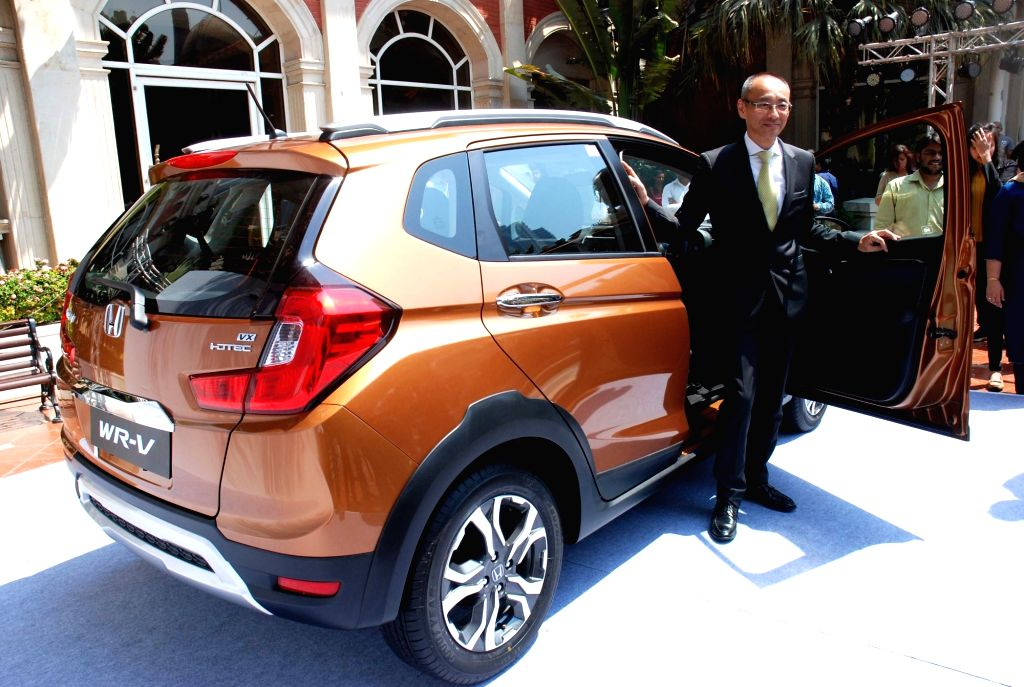 Honda Cars India Chief Executive and President Yoichiro Ueno during the launch of Honda's compact crossover model WR-V in Mumbai on March 17, 2017. - W