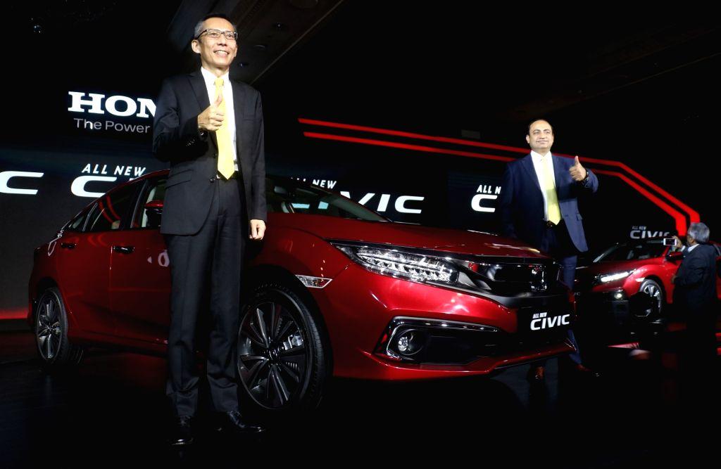 "Honda Cars India President and CEO Gaku Nakanishi at the launch of 2019 Honda new ""Civic"" in New Delhi, on March 7, 2019."