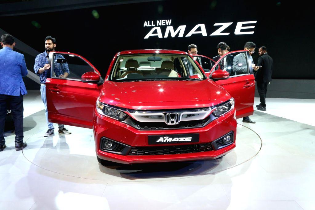 Honda Motor's Amaze at the Auto Expo 2018 in New Delhi on Feb 7, 2018.