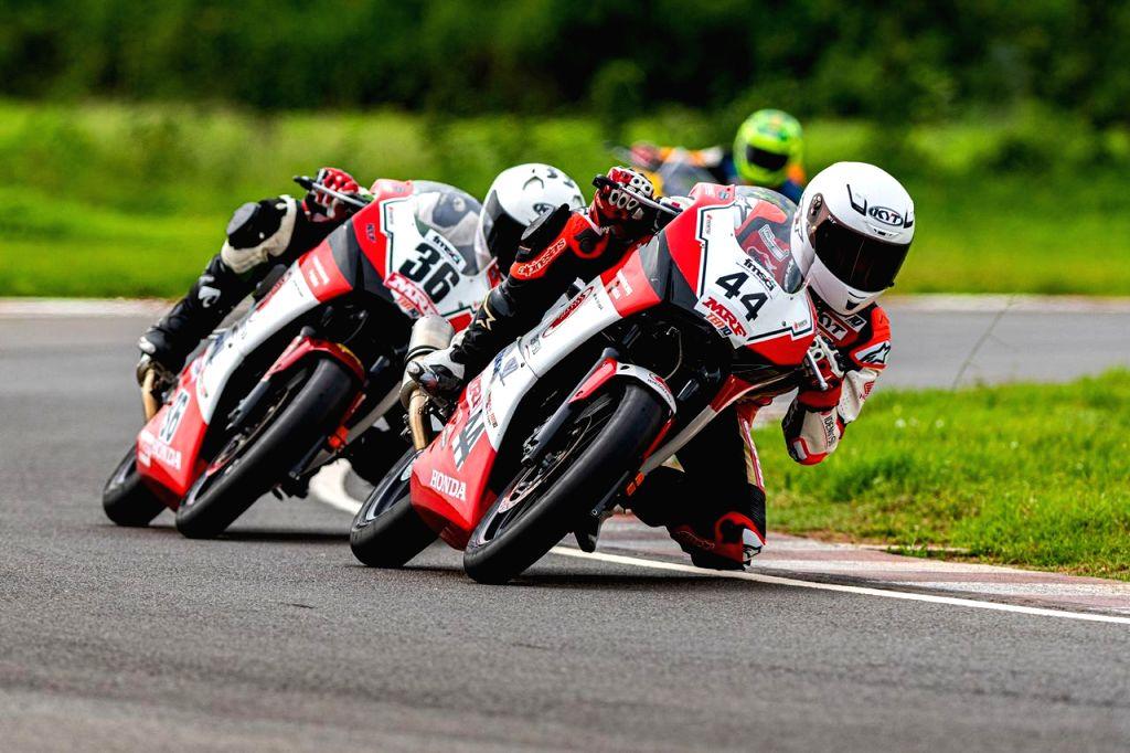 Honda rider Anish Shetty bags his 4th consecutive win the PS201-300cc category. - Anish Shetty