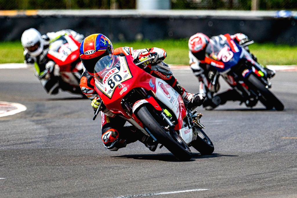 Honda's expert rider Rajiv Sethu seals his fifth consecutive win in PS165cc category.