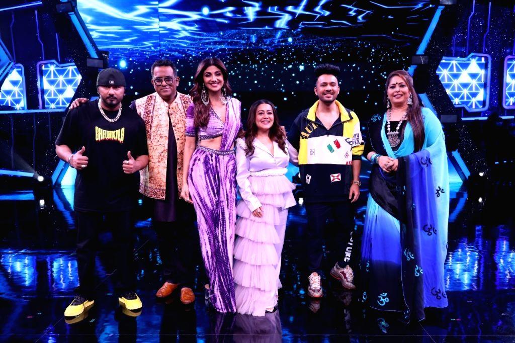 Honey Singh, Govinda, Chunky Pandey on 'Super Dancer 4' this week. - Singh and Pandey