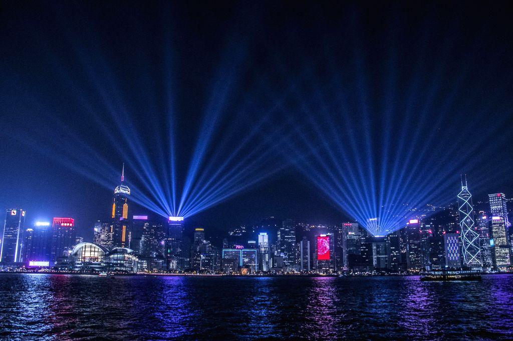 HONG KONG, Sept. 28, 2019 - Photo taken on Sept. 27, 2019 shows a night view of Hong Kong, south China.
