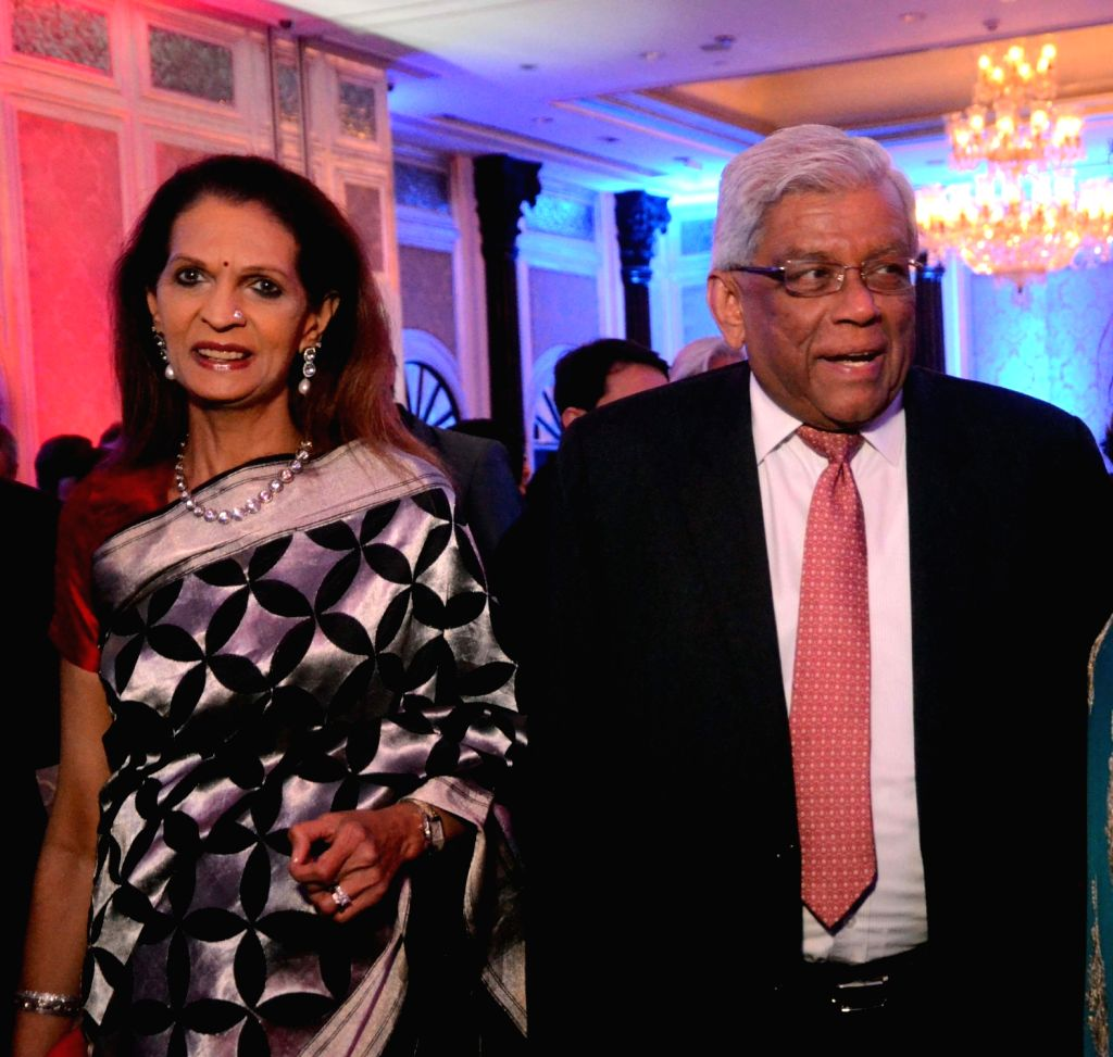 Housing Development Finance Corporation Chairman Deepak Parekh during a reception hosted by the British Deputy High Commissioner Shekhar Iyer to celebrate the 90th birthday of Queen Elizabeth ...