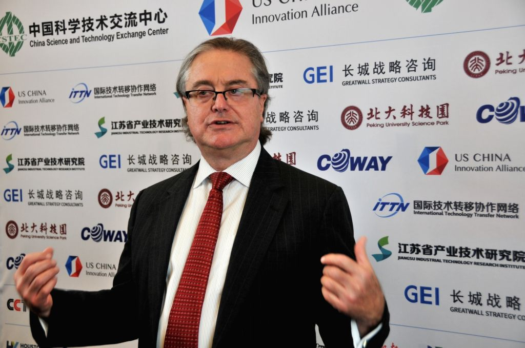 HOUSTON, May 19, 2019 - Phil Clarke, Chief Executive Officer (CEO) of Ecosweet Inc., is interviewed by Xinhua in Houston, Texas, the United States, on May 17, 2019. Opportunities abound in China, ...